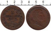 Изображение Монеты Европа Швеция 2 скиллинга 1843 Медь XF-