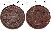 Изображение Монеты США 1 цент 1845 Медь XF-