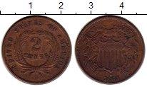 Изображение Монеты США 2 цента 1865 Медь XF