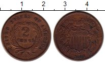 Изображение Монеты Северная Америка США 2 цента 1865 Медь XF