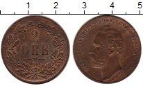 Изображение Монеты Европа Швеция 2 эре 1861 Медь XF