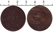 Изображение Монеты Европа Швеция 5 эре 1857 Медь XF-