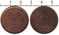 Изображение Монеты Швеция 5 эре 1875 Медь XF