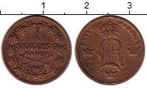Изображение Монеты Европа Швеция 1/6 скиллинга 1847 Медь XF-
