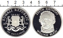 Изображение Монеты Африка Сомали 250 шиллингов 2004 Серебро Proof