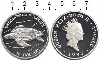 Изображение Монеты Австралия и Океания Тувалу 20 долларов 1993 Серебро Proof