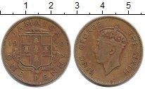 Изображение Монеты Ямайка 1 пенни 1950 Латунь XF-