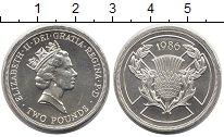 Изображение Монеты Европа Великобритания 2 фунта 1986 Серебро UNC-