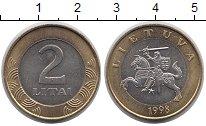 Изображение Монеты Литва 2 лит 1998 Биметалл UNC-