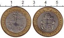 Изображение Монеты Ватикан 1000 лир 1999 Биметалл UNC