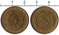 Изображение Монеты Финляндия 5 марок 1946 Латунь XF
