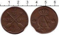 Изображение Монеты Европа Швеция 1/2 скиллинга 1809 Медь VF