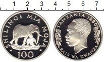 Изображение Монеты Танзания 100 шиллингов 1986 Серебро Proof