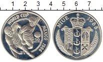 Изображение Монеты Ниуэ 50 долларов 1988 Серебро Proof- Чемпионат Мира по фу