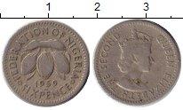 Изображение Монеты Нигерия 6 пенсов 1959 Медно-никель VF