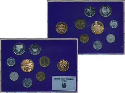 Изображение Подарочные монеты Европа Австрия Набор 1988 года 1988  Proof