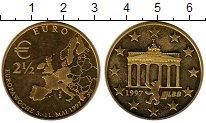 Изображение Монеты Германия 2 1/2 евро 1997 Латунь UNC