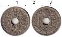 Изображение Монеты Франция 5 сантим 1923 Медно-никель XF