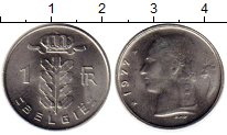 Изображение Монеты Бельгия 1 франк 1977 Медно-никель UNC-