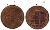 Изображение Монеты Европа Швейцария 1 рапп 1951 Бронза XF