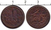 Изображение Монеты Европа Нидерланды 1 цент 1938 Бронза XF