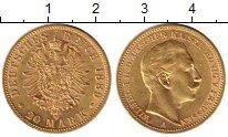 Изображение Монеты Пруссия 20 марок 1889 Золото XF