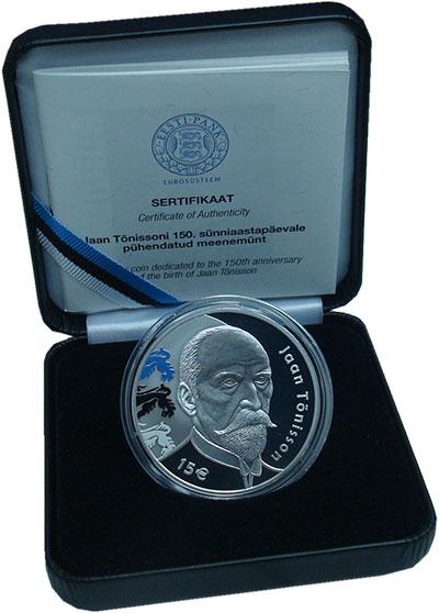 Изображение Подарочные монеты Европа Эстония 15 евро 2018 Серебро Proof