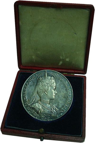 Изображение Подарочные монеты Великобритания Медаль 1902 Серебро UNC-