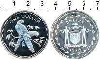 Изображение Монеты Белиз 1 доллар 1974 Серебро Proof