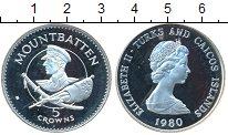 Изображение Монеты Великобритания Теркc и Кайкос 5 крон 1980 Серебро Proof-