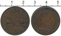 Изображение Монеты Северная Америка Канада 1 цент 1910 Бронза XF