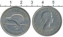Изображение Монеты Новая Зеландия 1 флорин 1965 Медно-никель XF