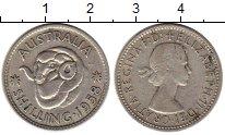 Изображение Монеты Австралия 1 шиллинг 1958 Серебро VF Елизавета II