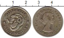 Изображение Монеты Австралия 1 шиллинг 1958 Серебро VF Елизавета II.