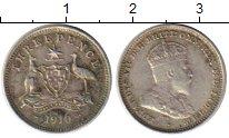 Изображение Монеты Австралия 3 пенса 1910 Серебро VF