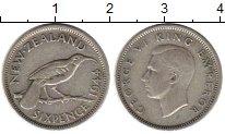 Изображение Монеты Австралия и Океания Новая Зеландия 6 пенсов 1944 Серебро VF