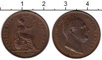 Изображение Монеты Великобритания 1 фартинг 1831 Медь VF