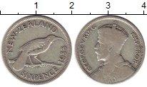 Изображение Монеты Австралия и Океания Новая Зеландия 6 пенсов 1933 Серебро VF
