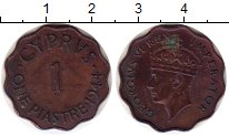 Изображение Монеты Кипр 1 пиастр 1944 Бронза VF