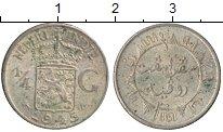 Изображение Монеты Нидерландская Индия 1/4 гульдена 1945 Серебро VF