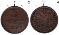 Изображение Монеты Европа Ломбардия 3 сентесим 1852 Медь XF