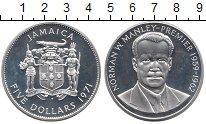 Изображение Монеты Северная Америка Ямайка 5 долларов 1971 Серебро UNC