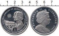 Изображение Монеты Гибралтар 1 крона 2002 Серебро Proof