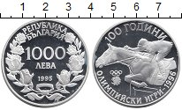 Изображение Монеты Болгария 1000 лев 1995 Серебро Proof-