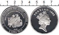 Изображение Монеты Токелау 5 тала 1995 Серебро Proof