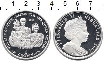 Изображение Монеты Великобритания Гибралтар 1 крона 2001 Серебро Proof
