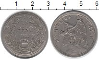 Изображение Монеты Южная Америка Чили 1 песо 1933 Медно-никель