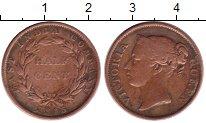 Изображение Монеты Индия 1/2 цента 1845 Медь XF-