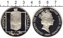 Изображение Монеты Виргинские острова 20 долларов 1985 Серебро Proof-