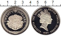 Изображение Монеты Виргинские острова 20 долларов 1985 Серебро Proof- Корабельные принадле